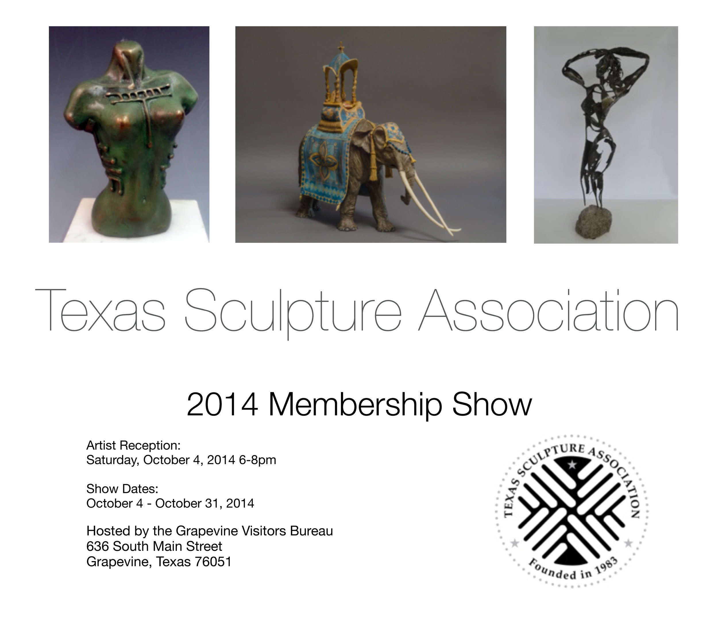 Poster for Texas Sculpture Association show