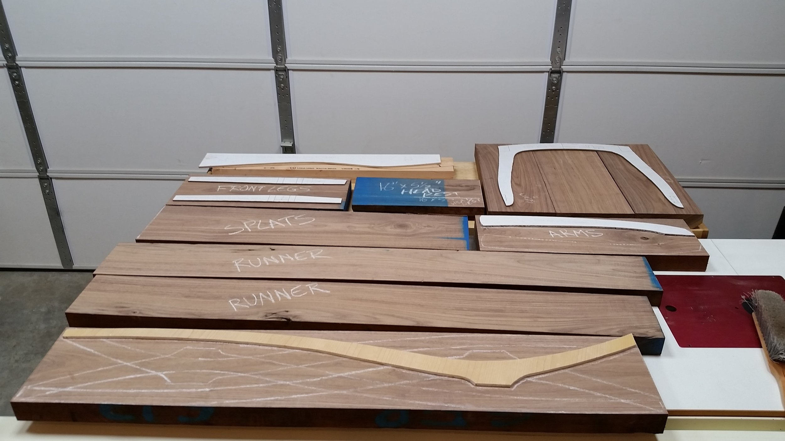 Parts all cut to rough length.