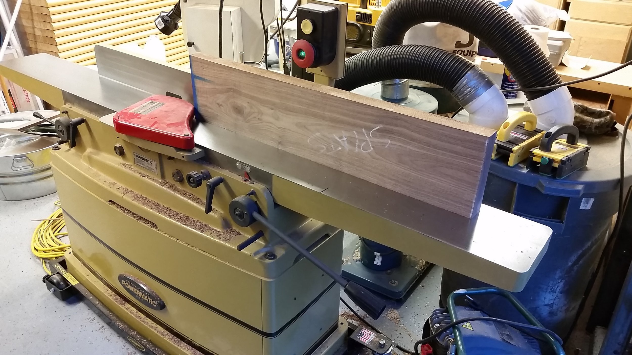 """Milling the board that will become the splats on Adam's jointer."