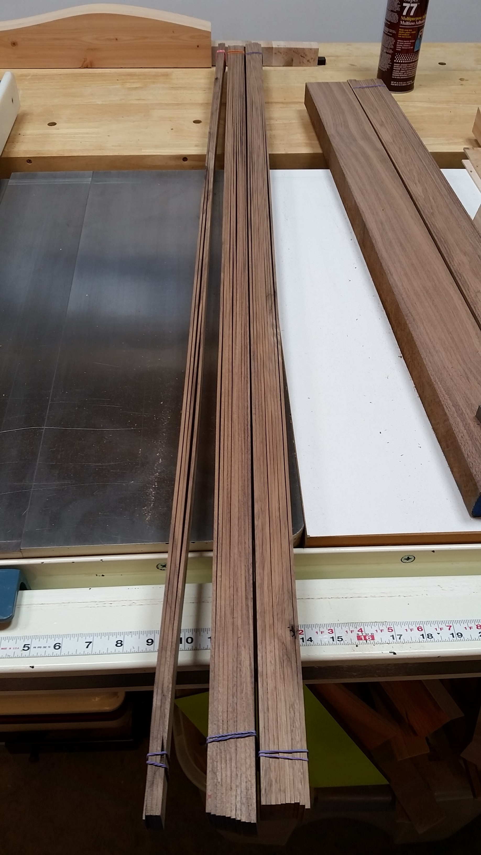 "Sequential 1/8"" strips cut and bundled for the runners (with a few extras on the side)."