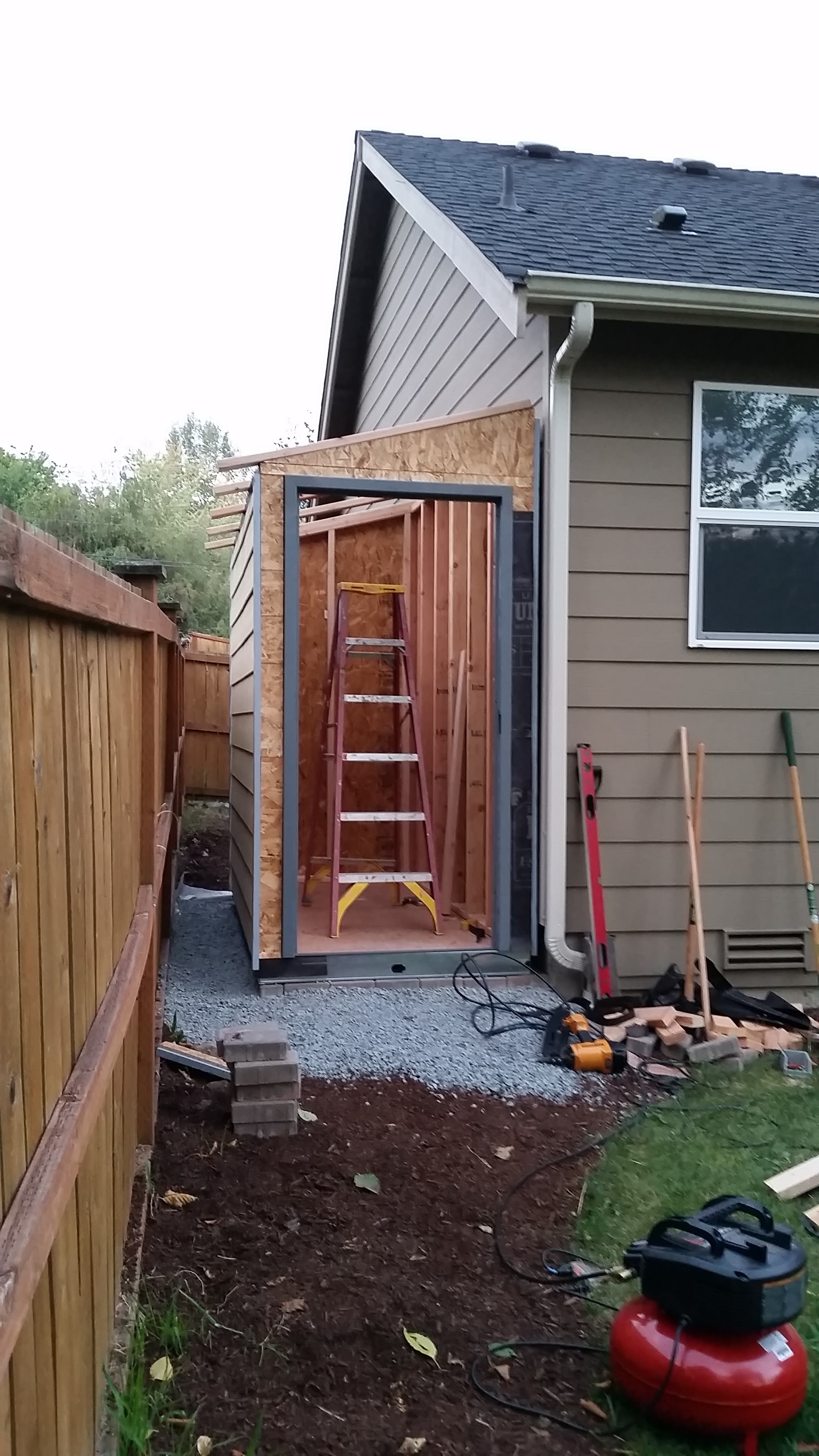 Install door frame. Check!