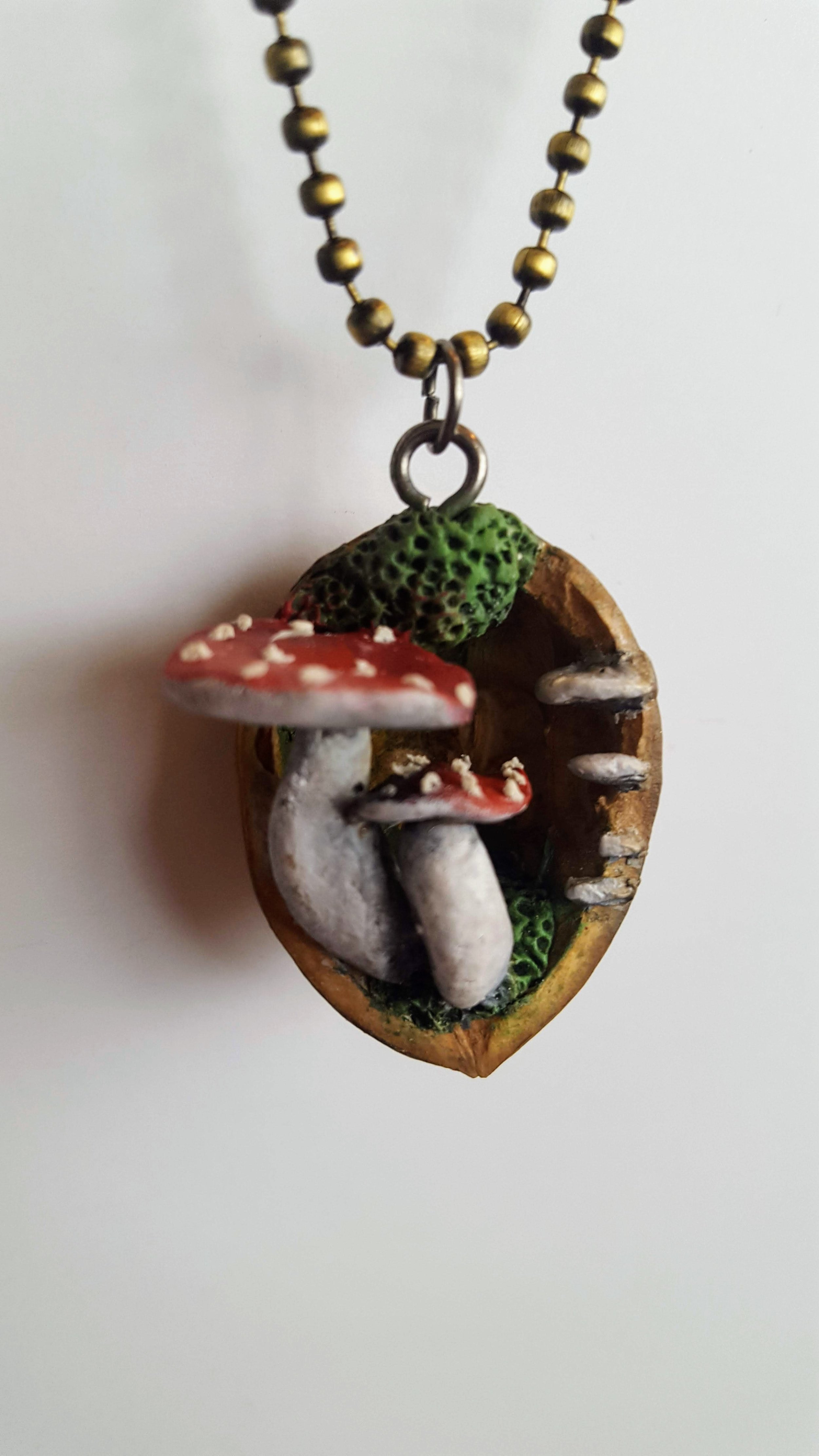 Walnut Mushroom PEndant - Buy Now!