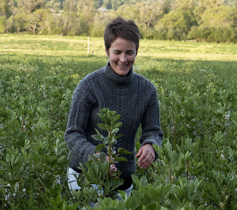 "Kate Brown, the ""force behind the food"" at her farm in Northern California."