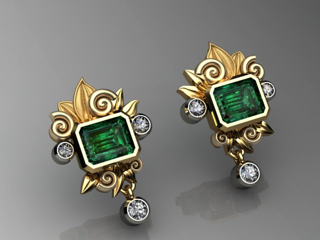 Emerald Nautalis Leaf Earrings.jpg