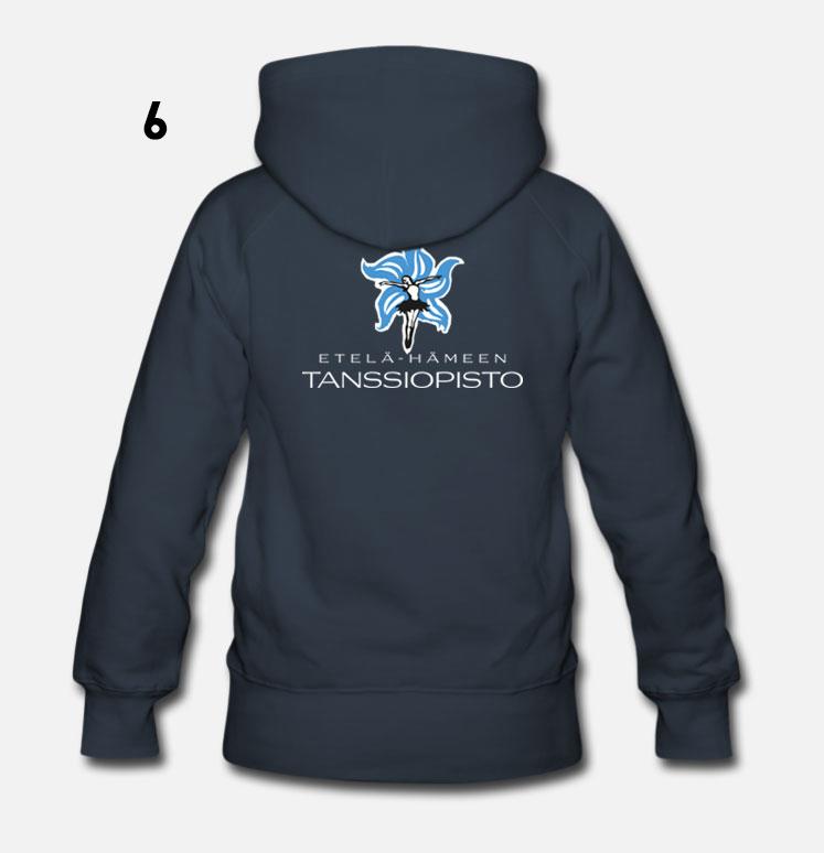 Sininen - tanssiopiston logolla
