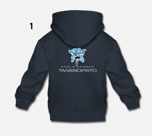 Lasten - Sininen tanssiopiston logolla