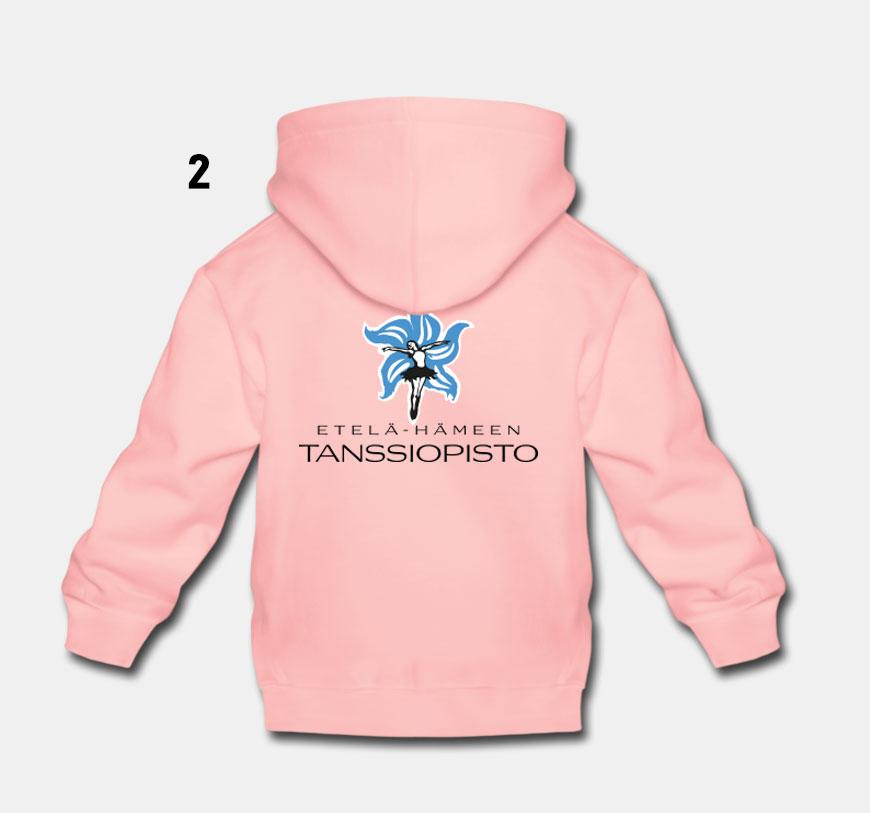 Lasten - Pinkki tanssiopiston logolla