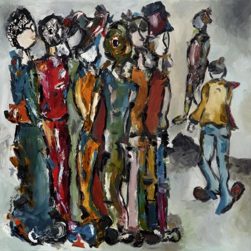 Untitled  100cm * 100cm (Oil on canvas)   Exhibition: Futuristic Nostalgia 2015