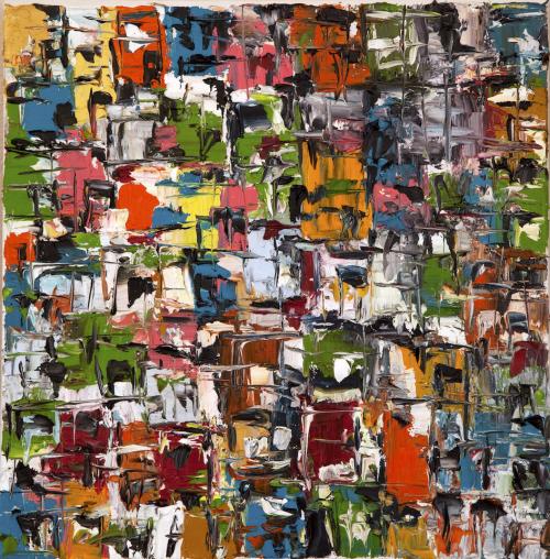 Les petits bâtiments  35cm * 35cm (Oil on canvas)   Exhibition: Once a beautiful Egypt 2014