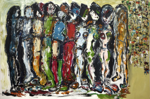 100cm * 150cm (Oil on canvas)   Exhibition: Futuristic Nostalgia 2015