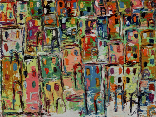 60cm * 80cm (Oil on canvas)   Exhibition: The beginning 2009