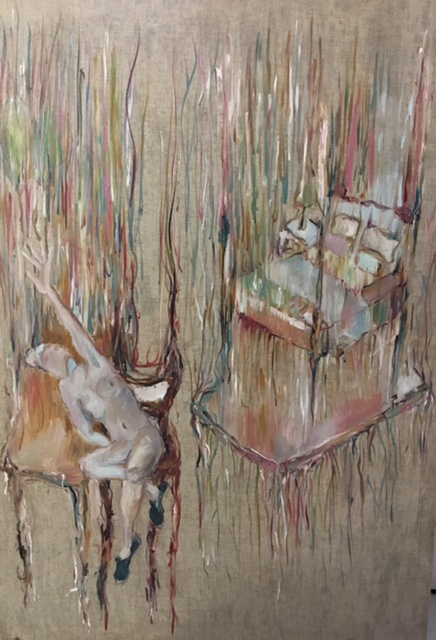 No strings attached   Oil on cloth (prepared with rabbit glue)   Exhibition: La Natura 2017