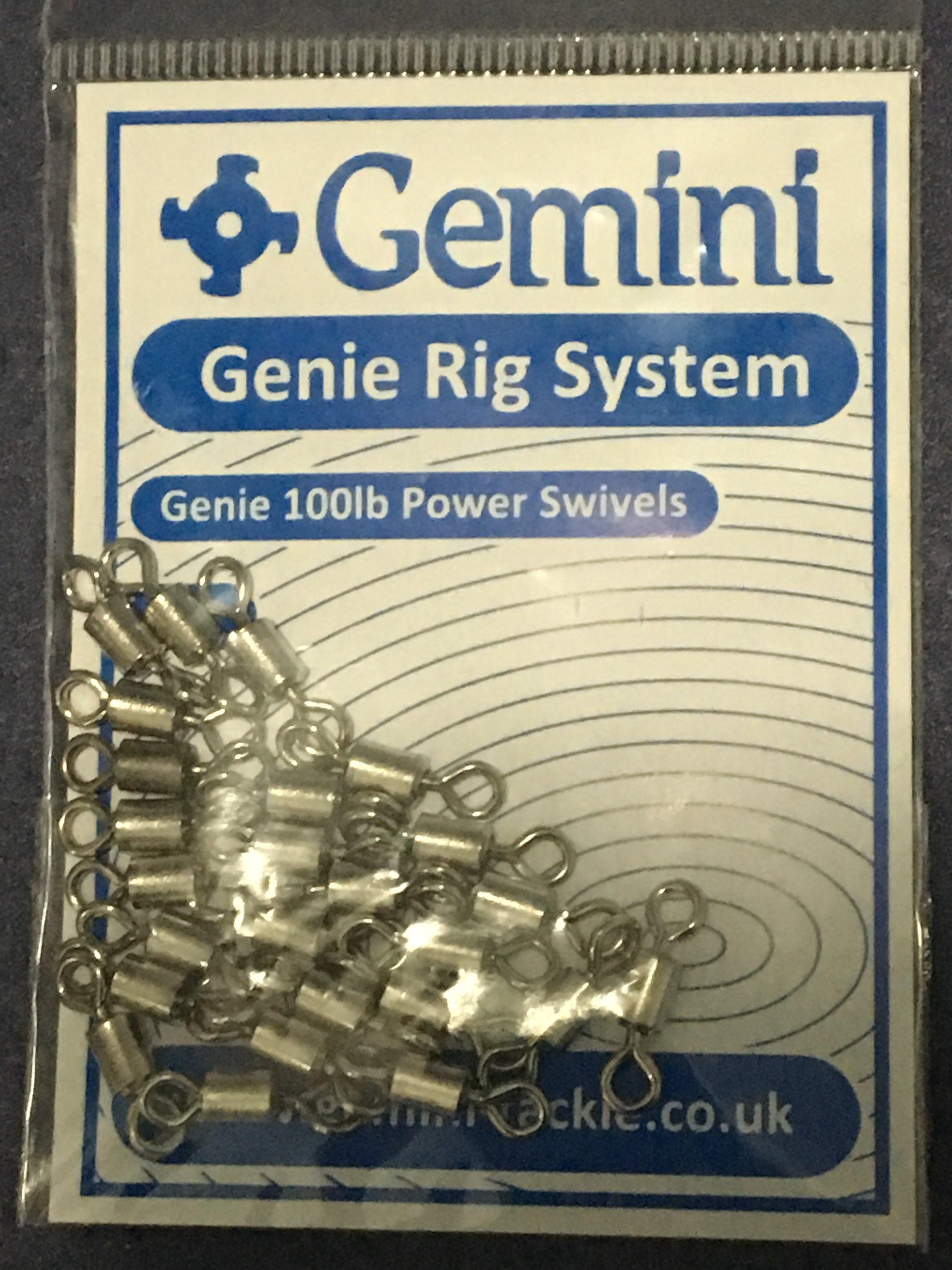 Genie 100lb Power Swivels Gemini Rig System 25/'s
