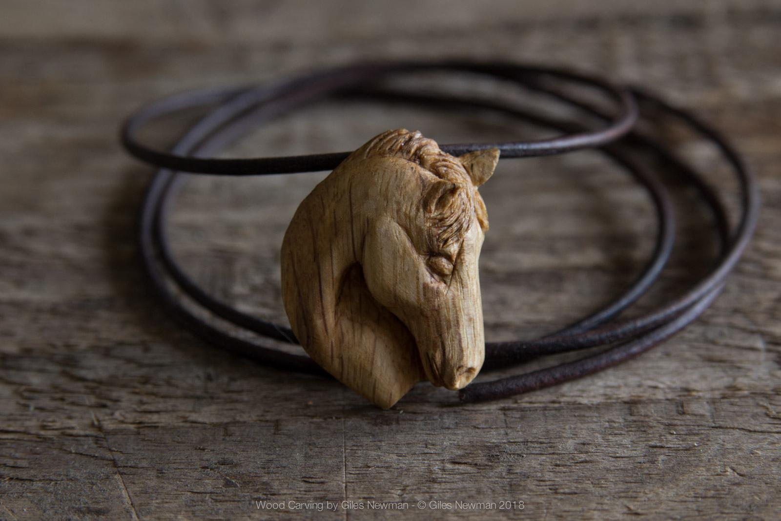 Oak Horse Pendant