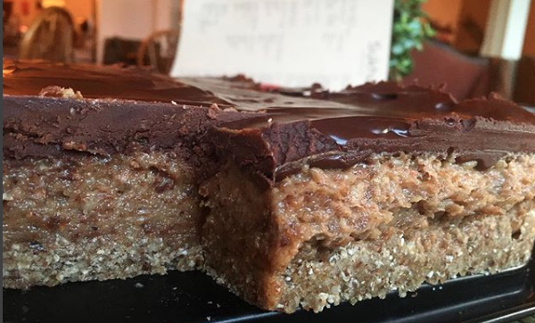 Snickers £20 for 8 squares  Peanut, Maple, Dates, Cacao. Coco oil and milk, Almonds.