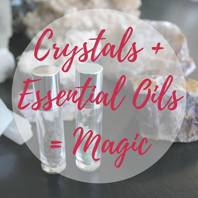 Last week I had a magical time with @holistic.vitality.yl running a workshop at @toogoodgeneralstore on @mainstreetunionville 💕 We learnt all about crystal energy and healing properties of essential oils...and then combined that learning into making customized essential oil roller balls with crystal's inside. 😍 Soooo pretty but also useful! 🤗 Thanks to everyone that came out!