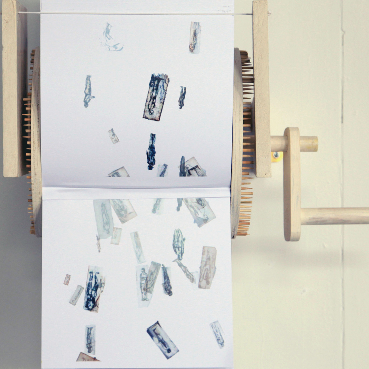 The Stop Motion Machine (Detail)(Digitally Printed Etchings, Reclaimed Materials).jpg