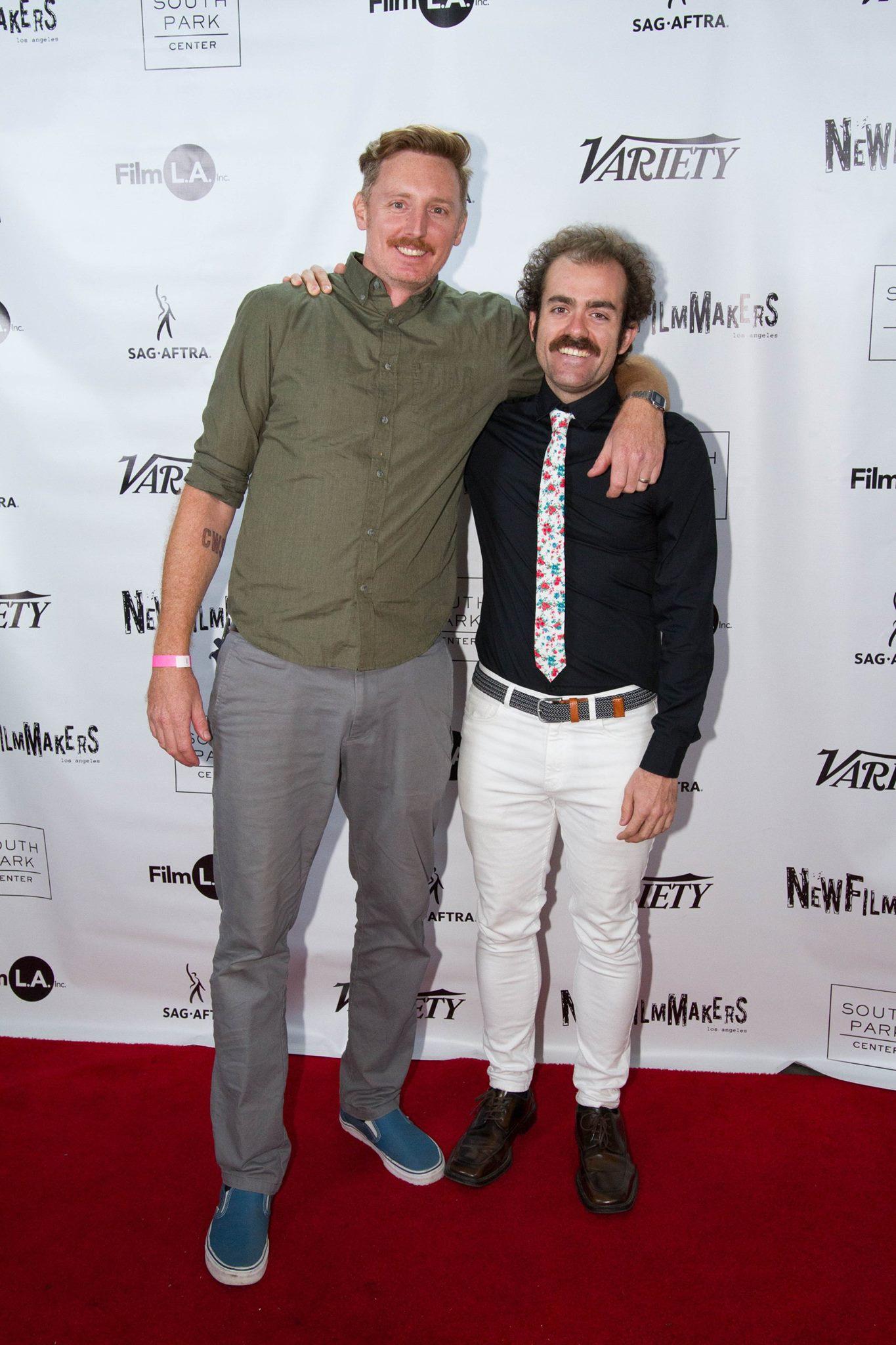 Aaron Gambel & Sean David Christensen take to the red carpet at DocuSlate; December 2nd, 2017 at South Park Center.