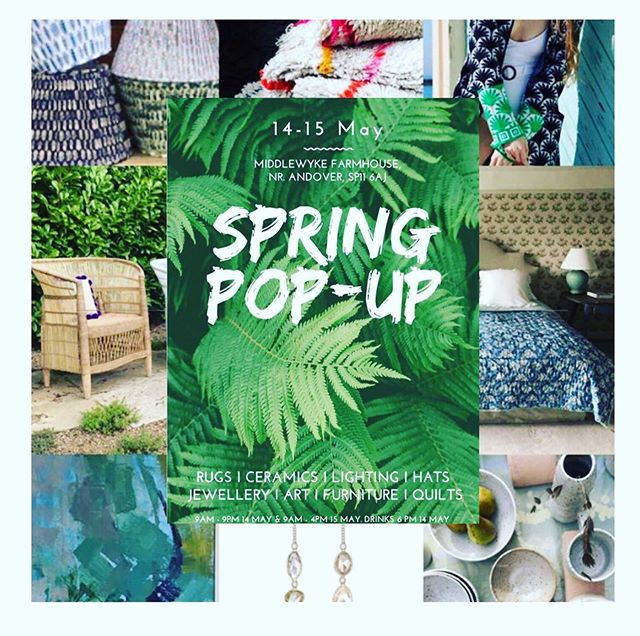 🌿S P R I N G  P O P - U P🌿 Please come join us tomorrow and Wednesday for a pop up sale near Andover🌿We have lots of new stock including newly arrived limited edition lampshades 🌿 And these wonderful ladies will be there too @birdyvoo @wonkiware @jesscollettmilliner @malawicane @tateanddarby @mimibaldwinjewellery @fiunderhill 🌿🌿🌿