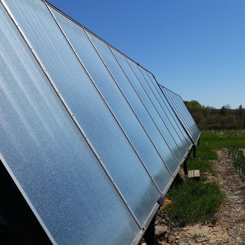 Large Residential solar heating array.