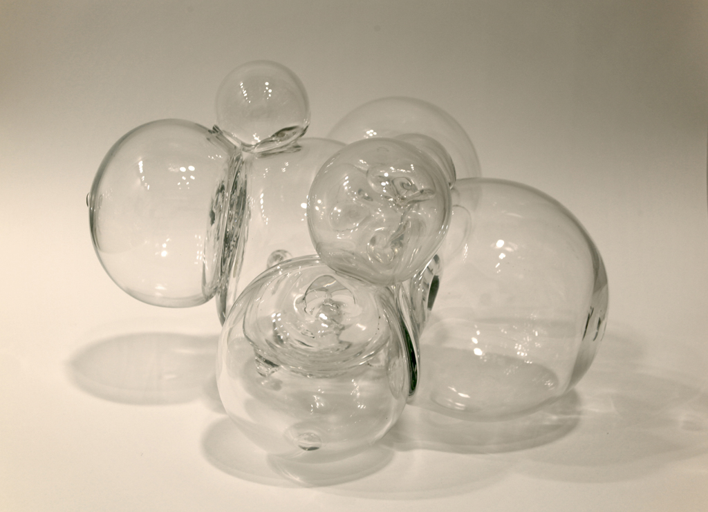 "Equilibrium, blown glass, 16"" x 16"" x 12"""