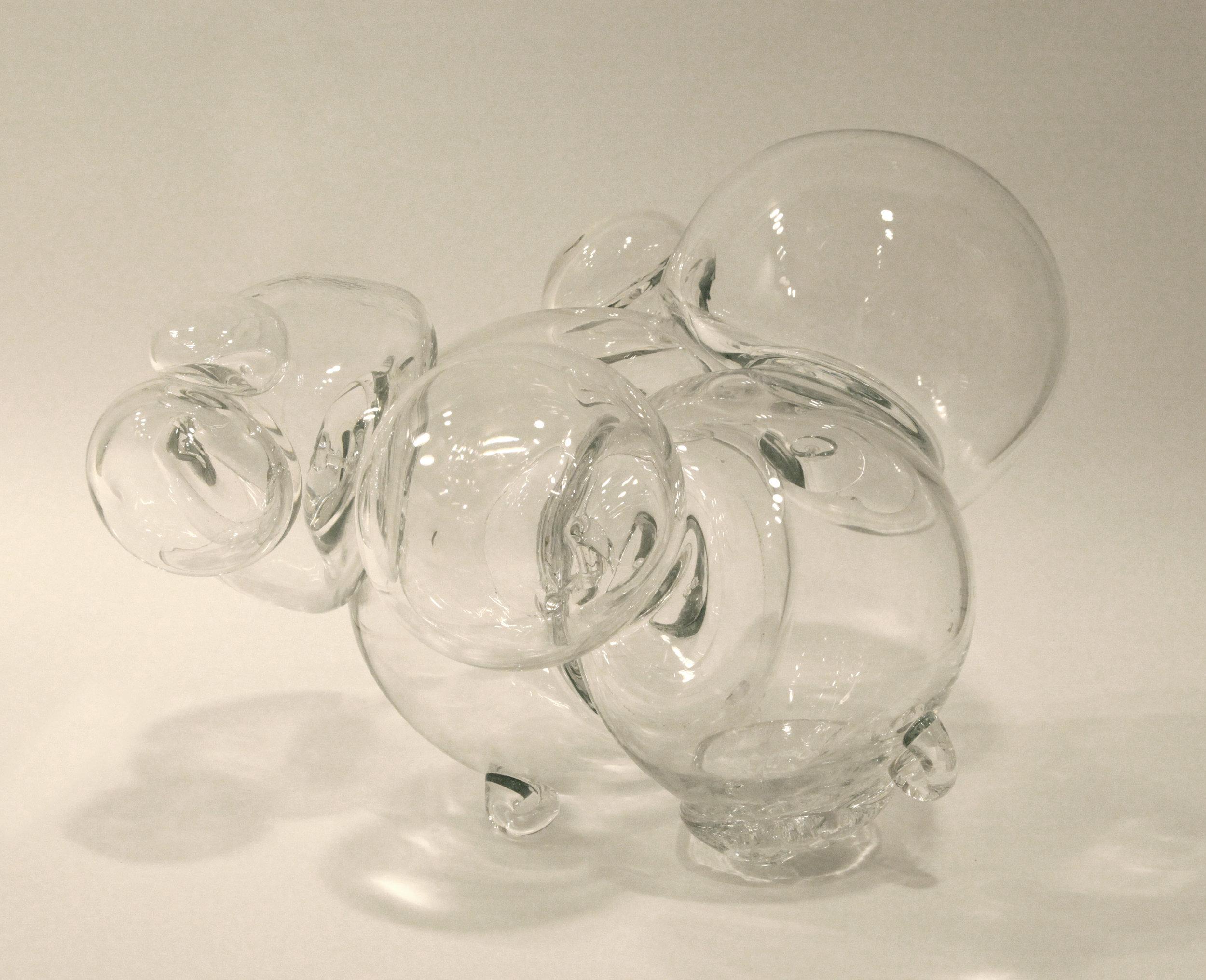 "Equilibrium, blown glass, 16"" x 18"" x 14"""