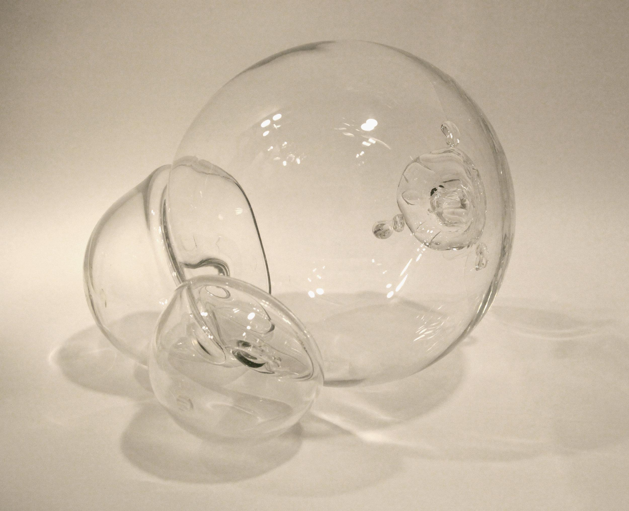"Equilibrium, blown glass, 16"" x 16"" x 14"""