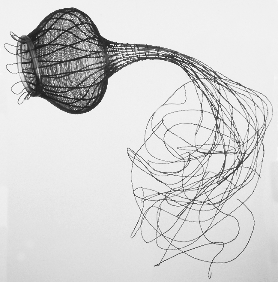 """Exchange, woven stainless steel wire, 12"""" x 20"""" x 10"""", 2002"""