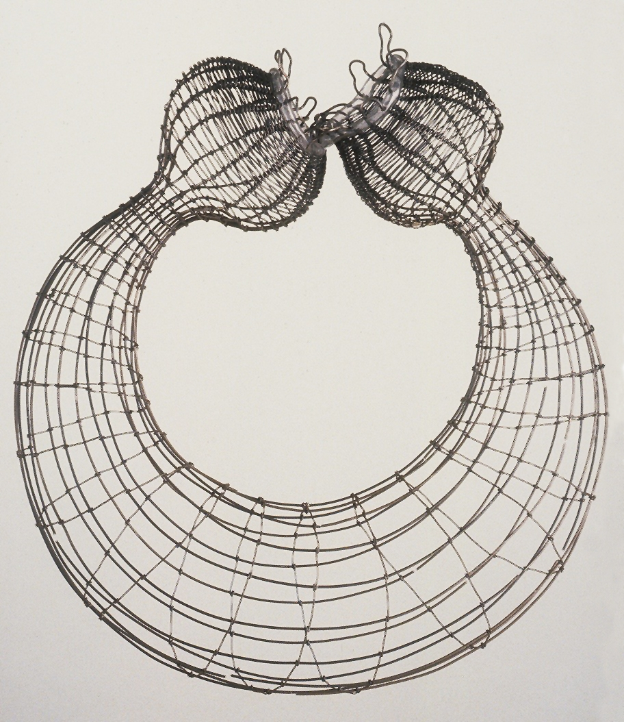 """Merge 1, woven stainless steel wire, 12""""x6""""x12"""", 2001"""