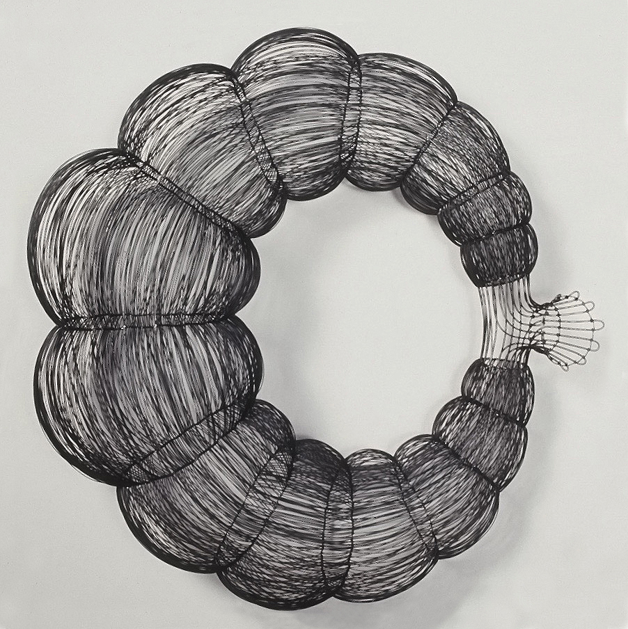 Valence 1, woven steel wire, 2.5', 2001