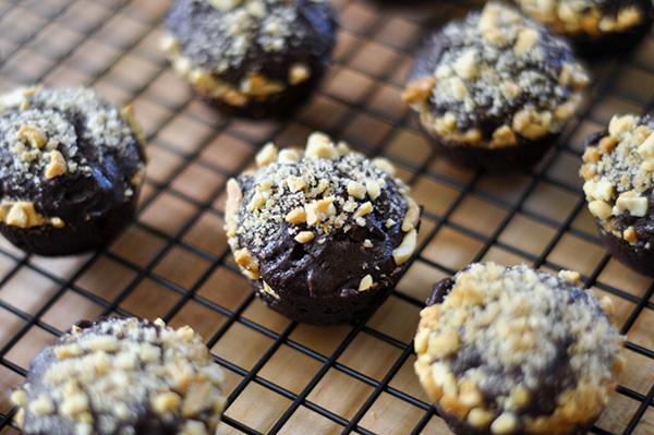 Salty Peanut Brownie Bites