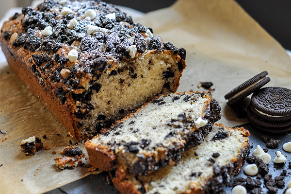 Cookies and Cream Loaf Cake
