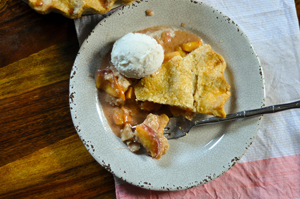 Juicy Peach Pie with Lard Crust