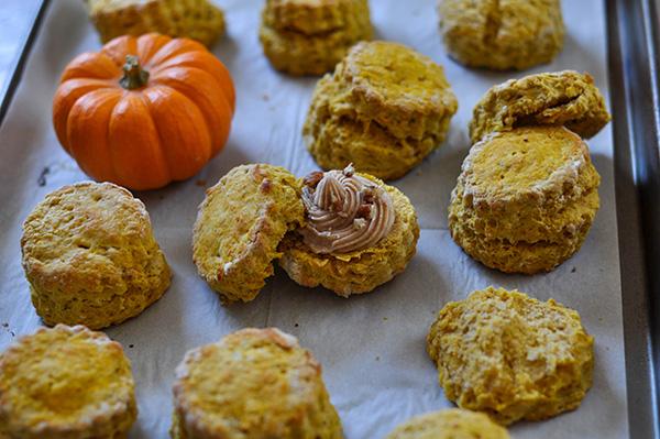 Pumpkin Spice Scones_piped butter on baking sheet.jpg
