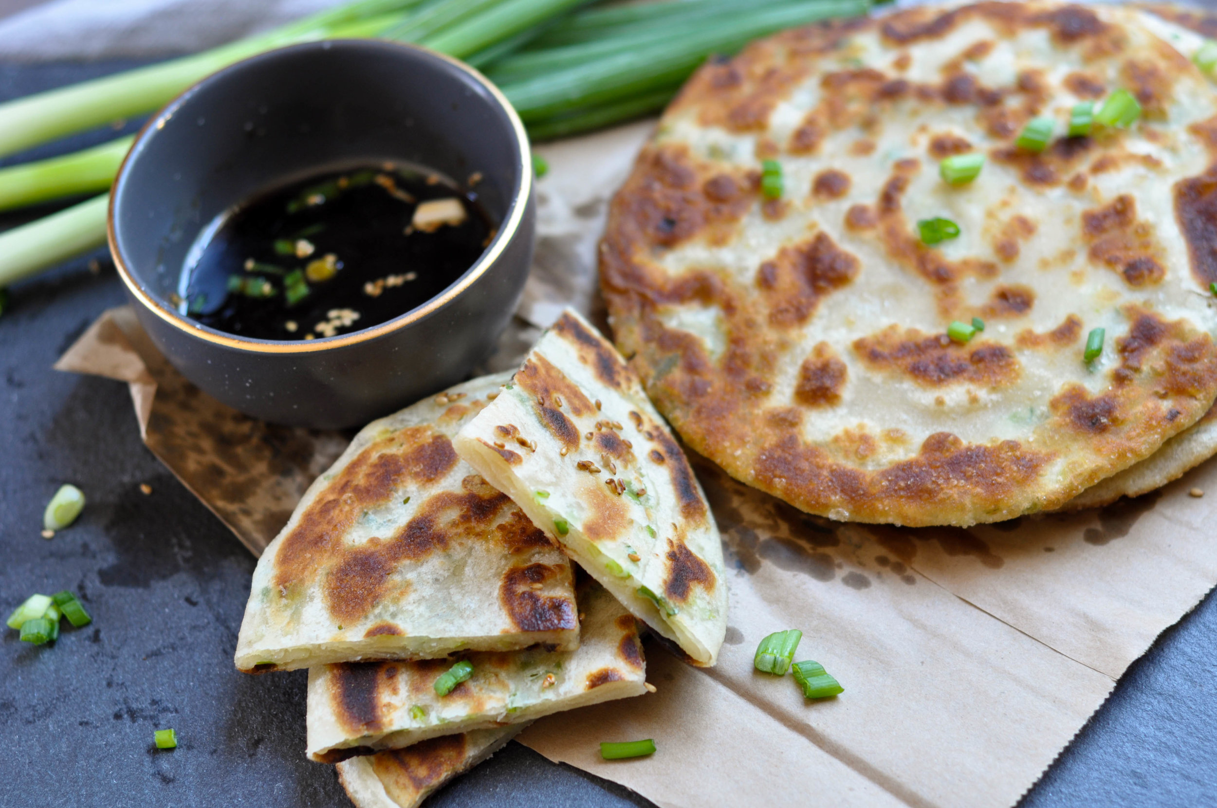 Crispy Chinese Scallion Pancakes The Sweet Sour Baker