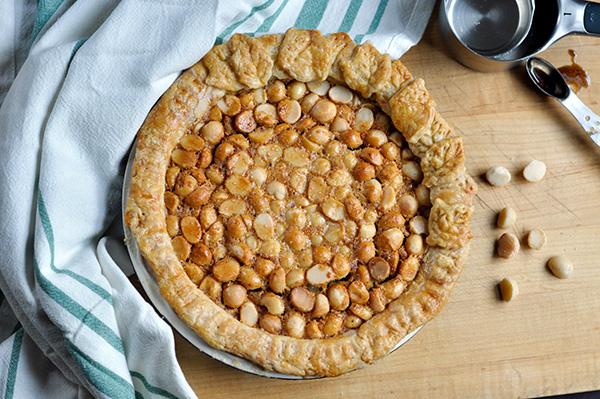 Vanilla Bean Macadamia Nut Pie_baked overhead-0167.jpg