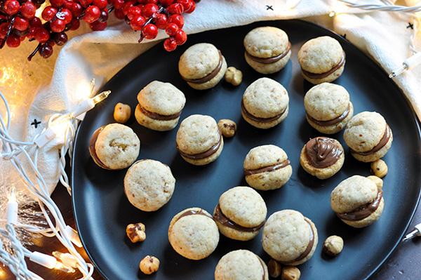 Nutella Hazelnut Kisses_filled cookies lit overhead-0216.jpg