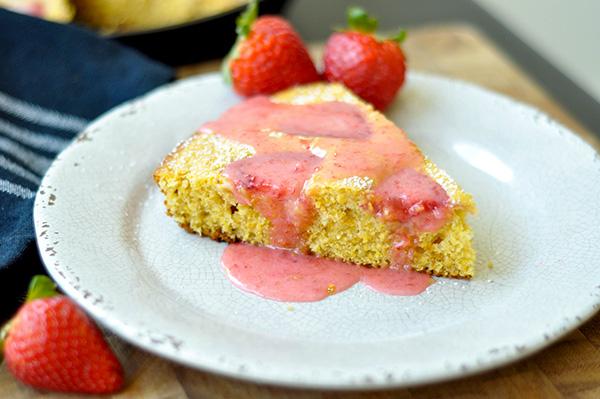 Strawberry Cornmeal Skillet Cake_glazed angle 2-0062.jpg