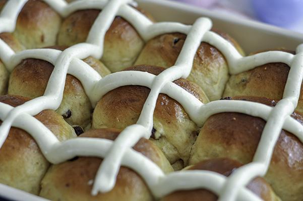 Cardamom Raisin Hot Cross Buns_iced buns.jpg