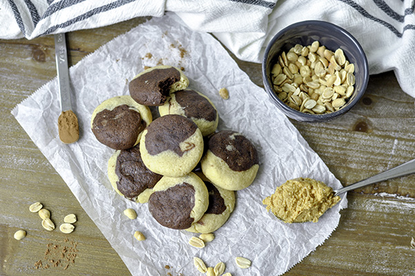 Peanut Butter Brownie Cookies_pile overhead.jpg