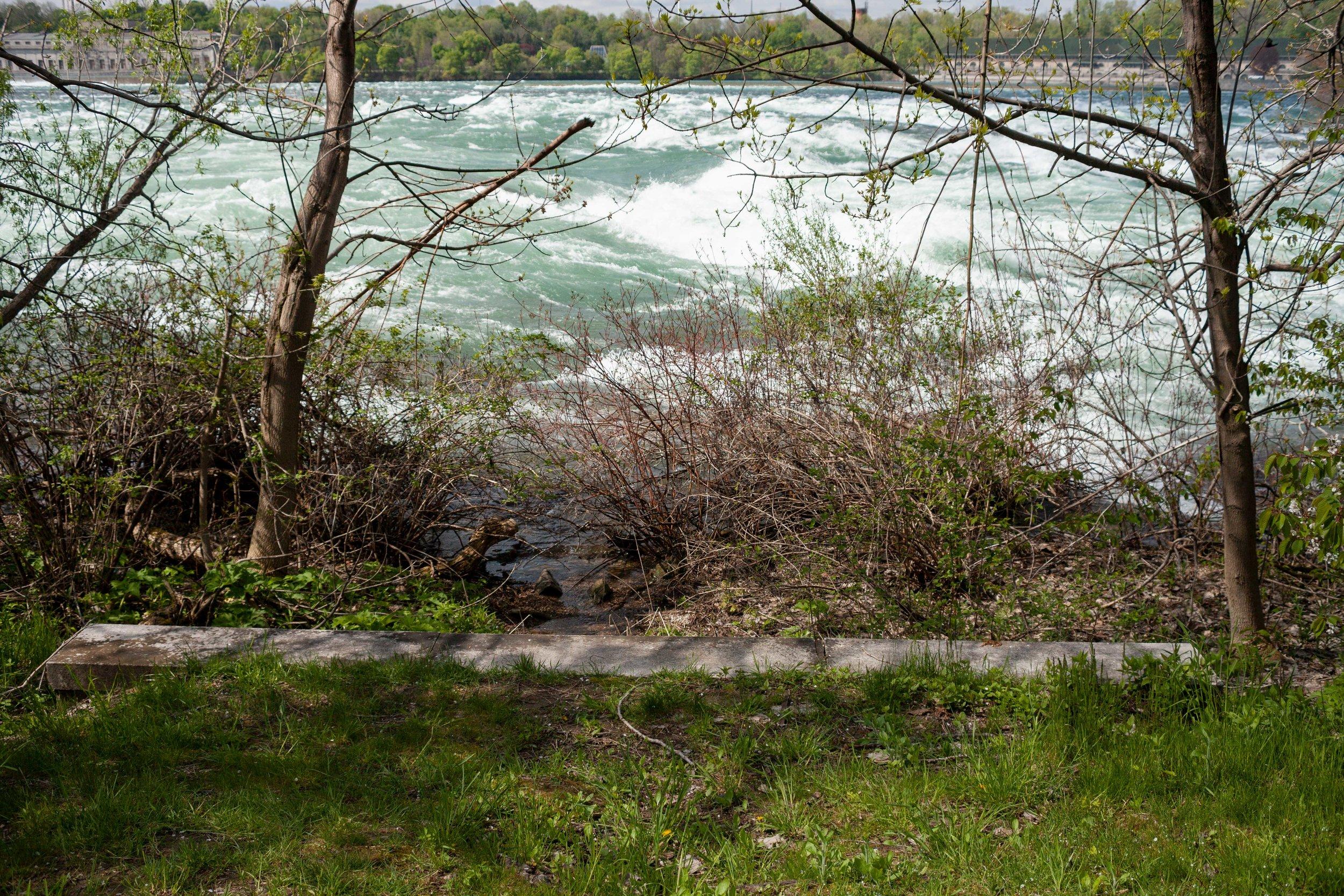 Rapids above Falls, Niagara Falls, NY