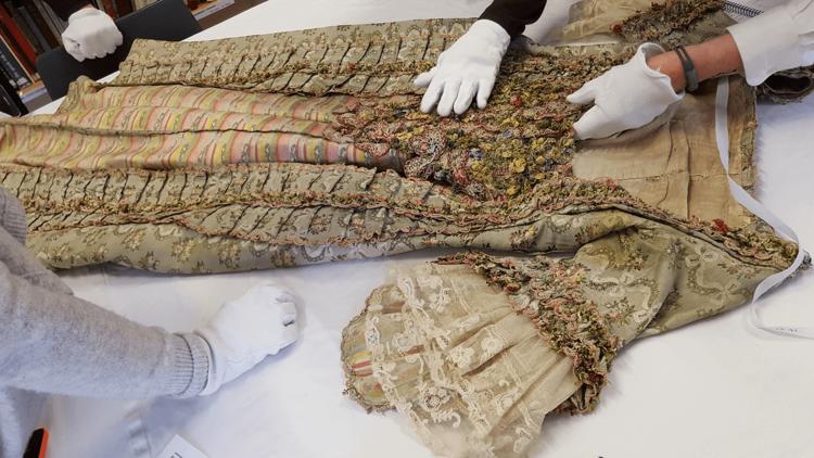 A 1770s fashionable dress