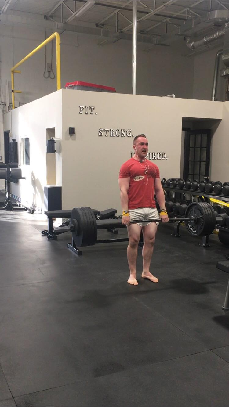 515 lb x 1 rep max deadlift personal best.