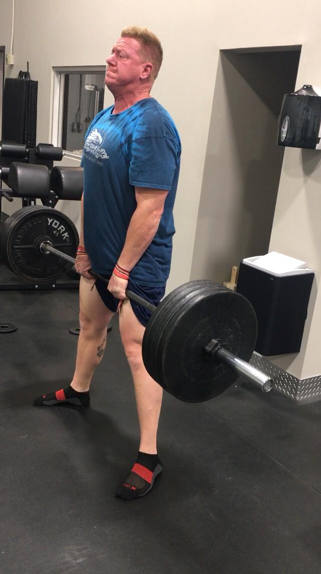 Ryan 405 lb x 1 rep deadlift personal best.