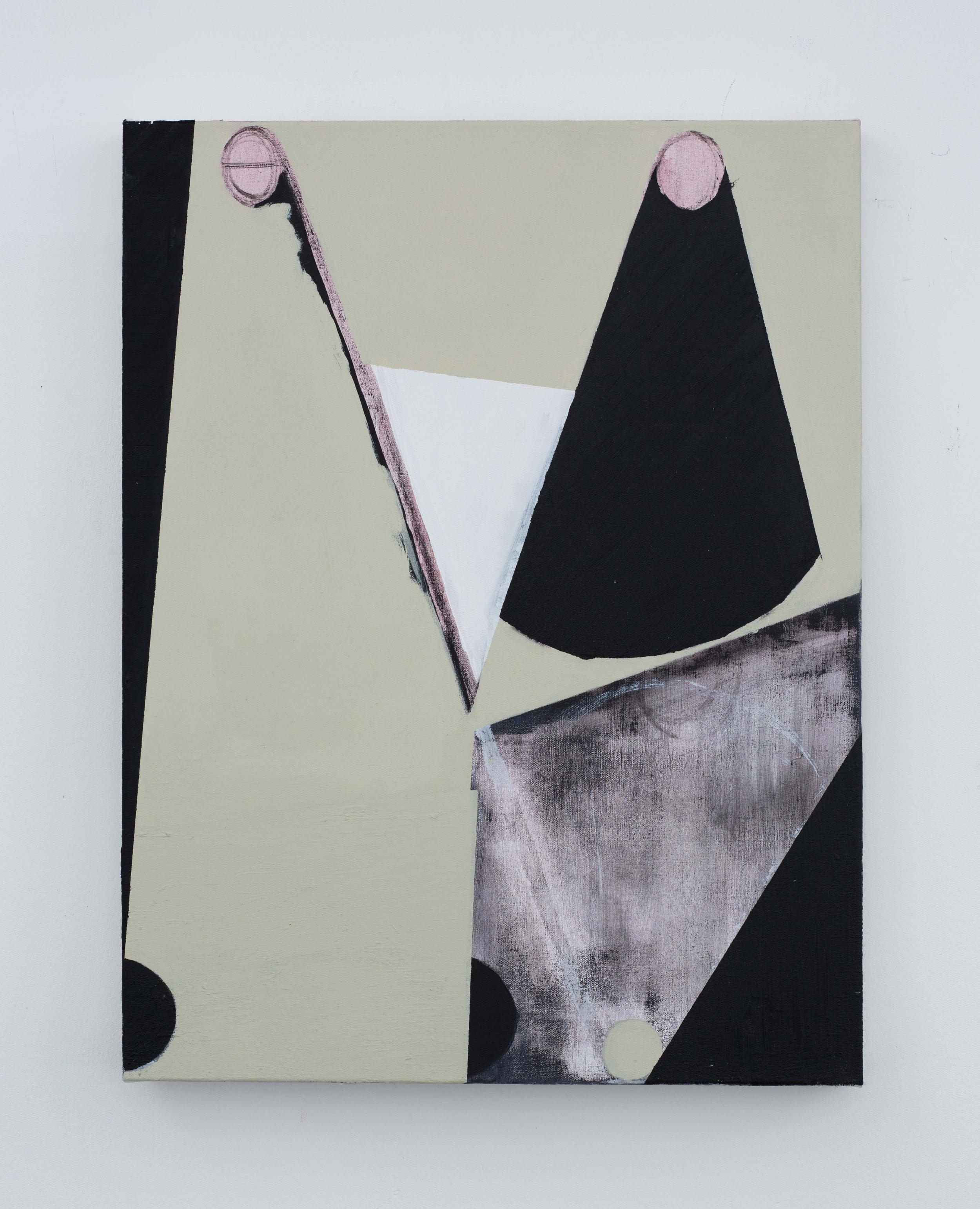 Card Clash 2 017 Oil on canvas 60x45cm