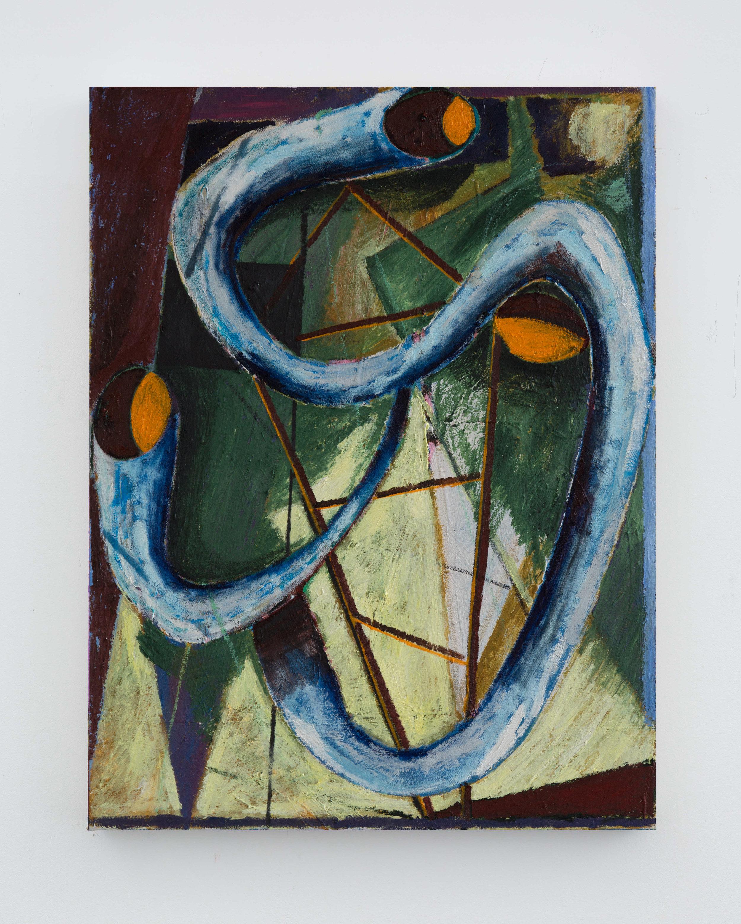 Phantomriding  2019 Oil on canvas 60x45cm
