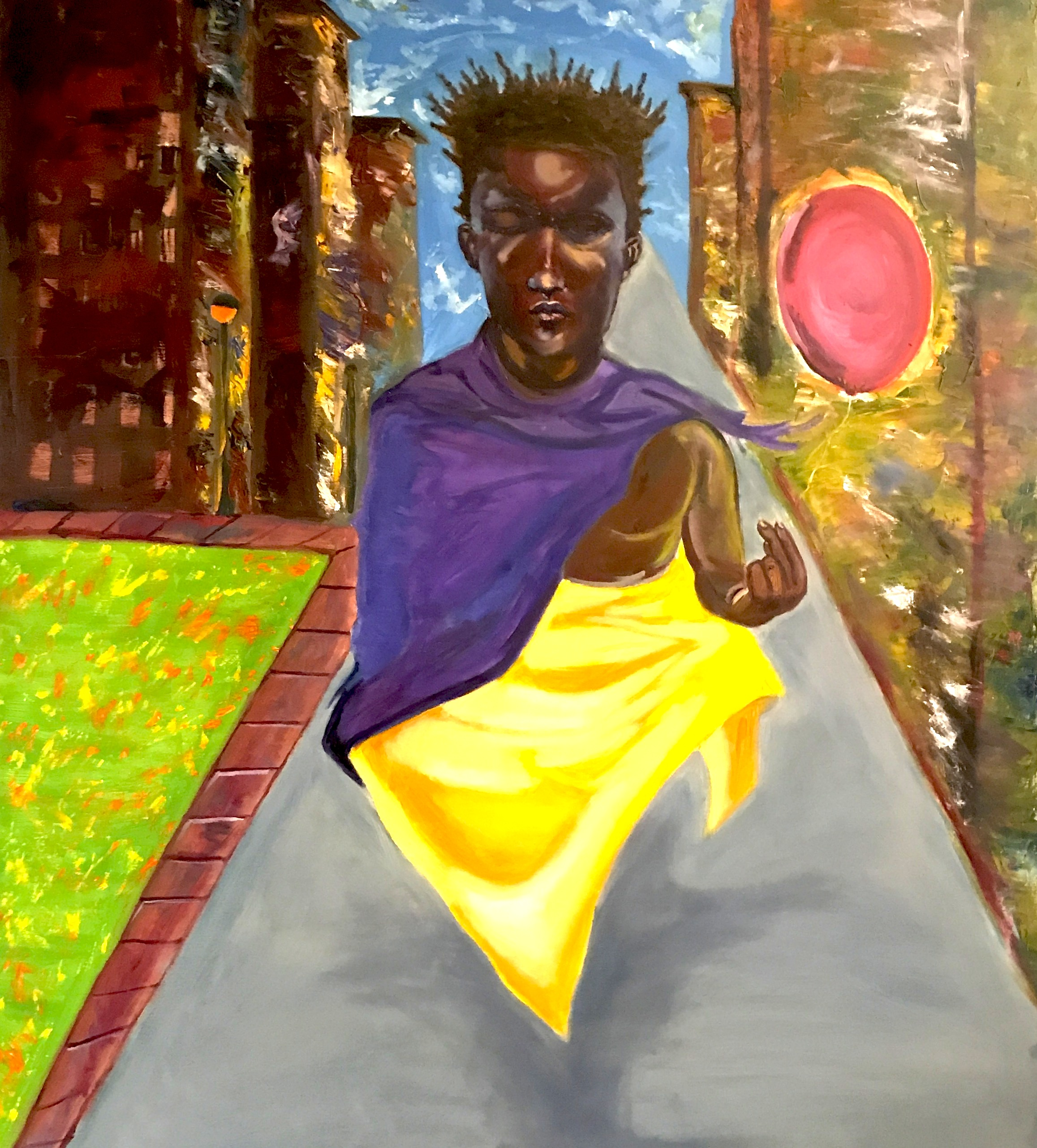 Miah Juantaine  is an African American artist that has been featured in different galleries and art shows. Born Jamiah Juantaine Calvin, he grew up on the west side of Chicago where he painted and drew a lot as a child to stay out of trouble in the neighborhood where he lived. His first job was an art apprentice at Gallery 37 at the age of 14. As he got older his love for art has become stronger. He now attends Northern Illinois University where he is working on his Bachelor of Fine Art. He is skilled in mediums such as charcoal, pastel and oil painting which happens to be his favorite. His style is a mixture expressionism and surrealism. Miah's goal is to capture deep emotion within the viewer of all his pieces by narrating an unwritten story through his art.