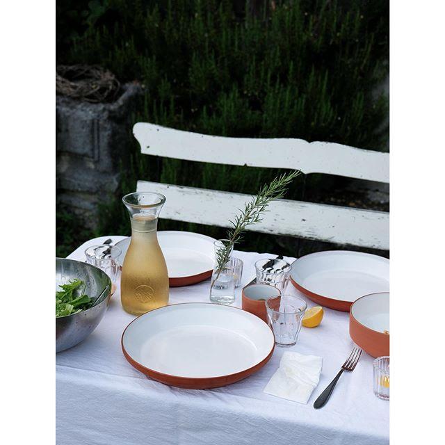 late summer dinner  #paulaceramics #pottery #tableware #terracotta #contemporaryceramics #makersmovement #swissmade