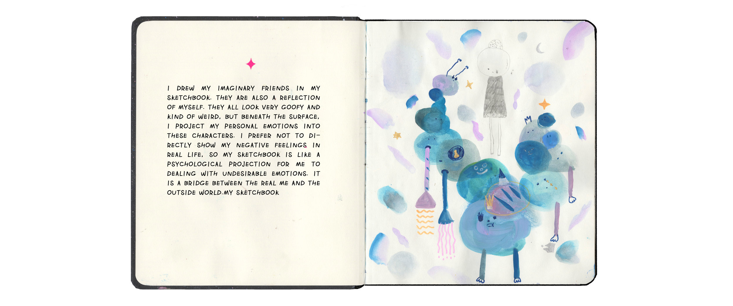 More about my sketchbook:    Imaginary Friends