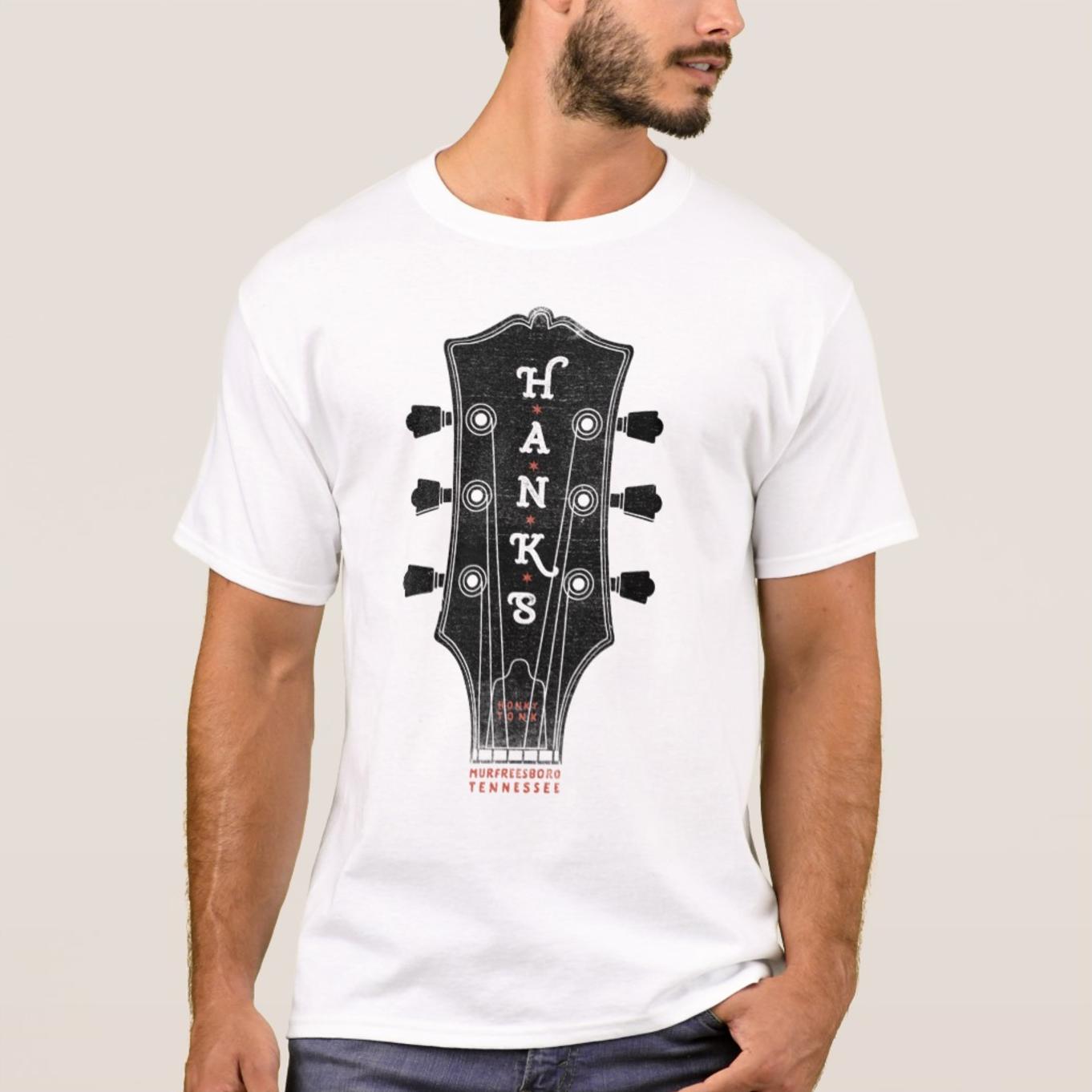 Men's Hank*s Guitar Head Tee | $24.00
